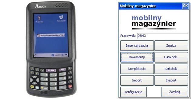 inwentaryzator, mobilny magazynier, inwentaryzacja mobilna