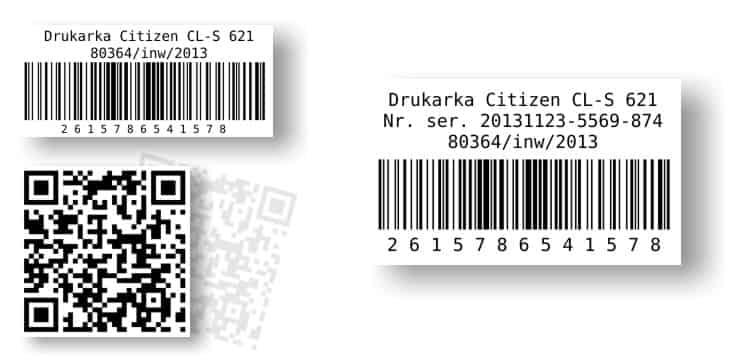 etykiety inwentaryzacyjne
